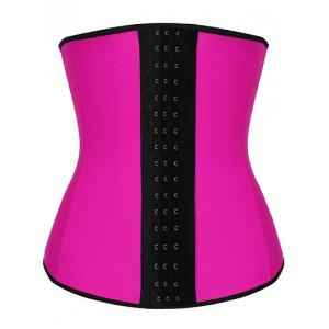 Steel Strapless Tight Waist Training Corset - Rose Red - M