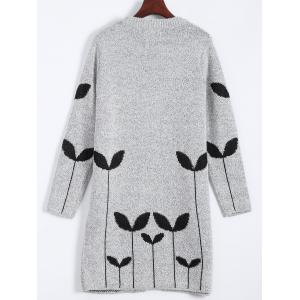 Graphic Open Cute Plus Size Cardigan - LIGHT GRAY 4XL