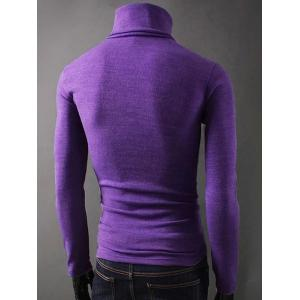 Long Sleeves Turtleneck Plain T-Shirt - MAJESTIC 2XL