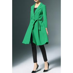 Bowknot Double-Breasted Trench Coat -