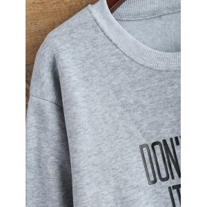Jewel Neck Letter Pattern Sweatshirt -