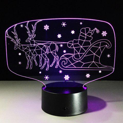 Sale Colorful 3D Illusion LED Kids Room Christmas Night Light