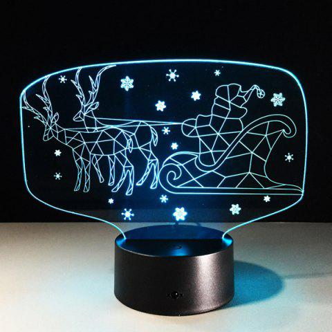 Cheap Colorful 3D Illusion LED Kids Room Christmas Night Light - COLORFUL  Mobile