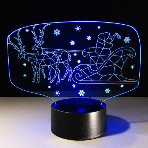Outfits Colorful 3D Illusion LED Kids Room Christmas Night Light - COLORFUL  Mobile
