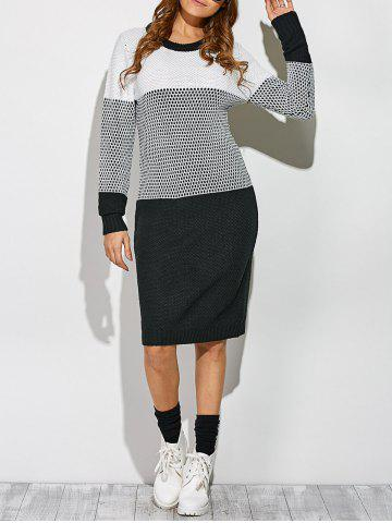 Unique Casual Contrast Trim Knit Dress