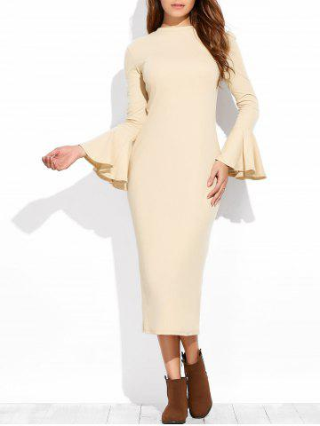 Outfit Bell Sleeve Midi Dress