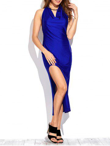 Cheap Draped Front Thigh Split Prom Dress