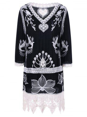 Chic Bohemian Style Lace Embroidery Dress