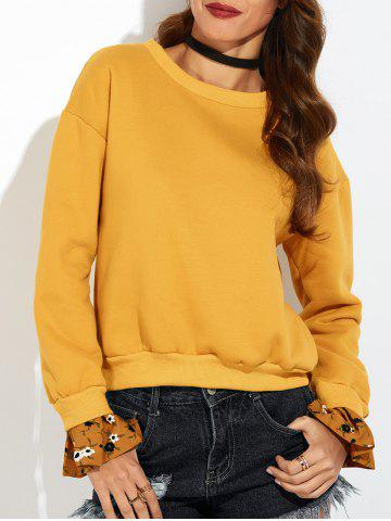 Sweat-shirt à manches cloches Jaune S