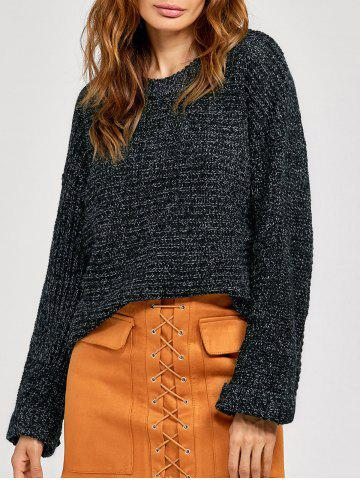 Discount Knitted Crimping Cuff Sweater