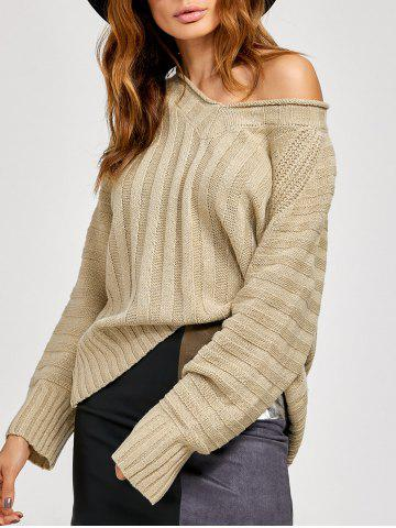 Outfits Stripe V Neck Pullover Knitwear