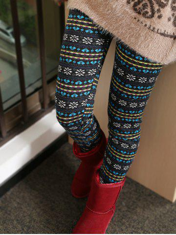 Affordable Thick Snowflake Ornate Patterned Leggings
