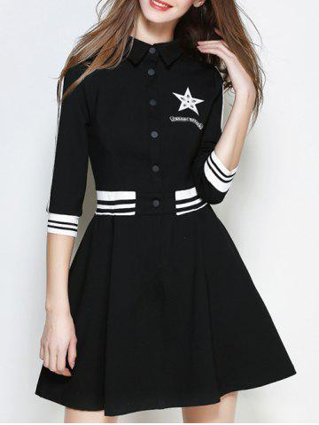 Store Star A Line Graphic Casual Dress