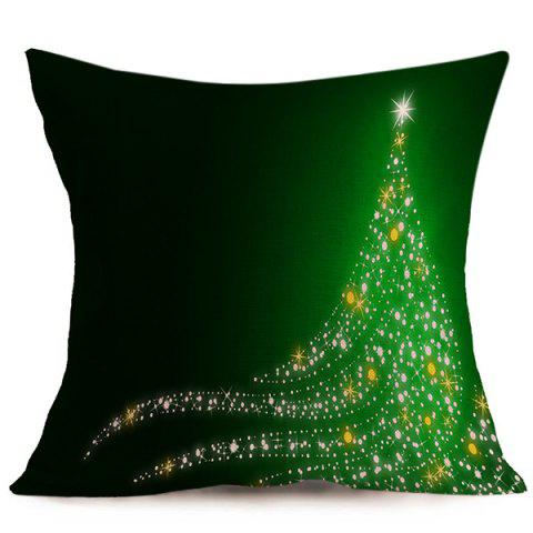Shop Merry Christmas Linen Seat Cushion Pillow Case