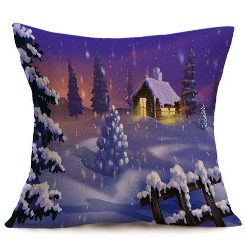 Discount Winter Snowing Christmas Cushion Pillow Case