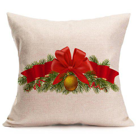New Sofa Cushion Christmas Bell Throw Pillow Cover BEIGE