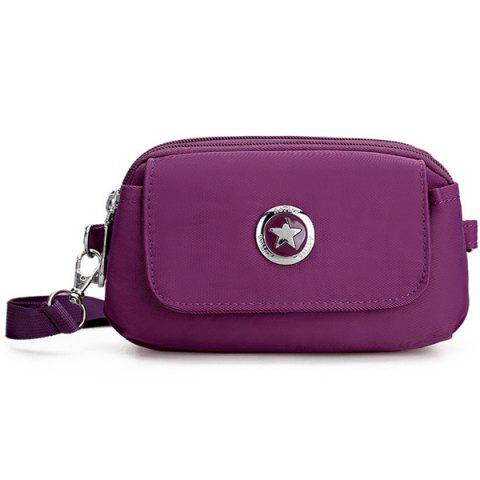 Shops Metal Double Zipper Nylon Clutch Bag