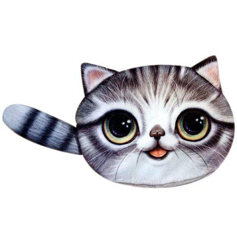 Forme Couleur Splicing Cat Purse Zipper Coin Gris