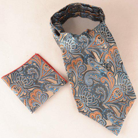 Buy Jacquard Pocket Square and Cravat Tie Set MIDNIGHT