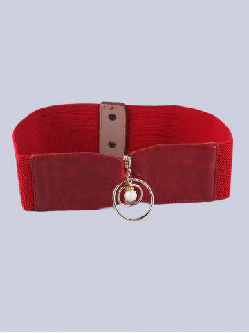 Cercle Zip Coat Decorative Wear élastique large ceinture