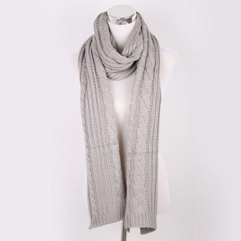 Outfit Winter Oversized Twisted Knitted Scarf GRAY