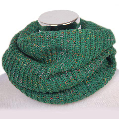 Best Winter Color Mixed Turtleneck Twisted Loop Knitted Infinity Scarf