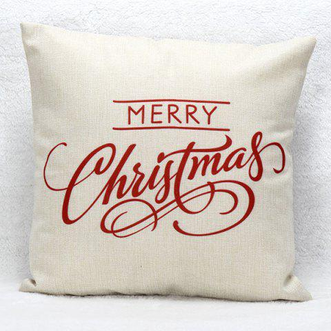 Merry Christmas Sofa Cushion Pillow Case - Red - W18 Inch * L18 Inch