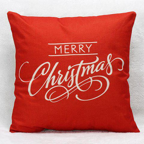 Hot Merry Christmas Letters Pillow Case RED