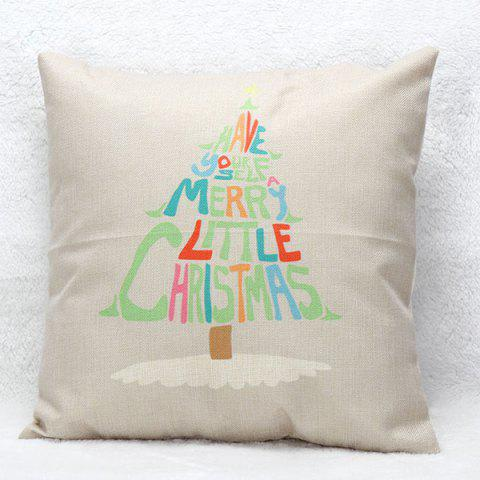 Best Christmas Tree Letters Pillow Case