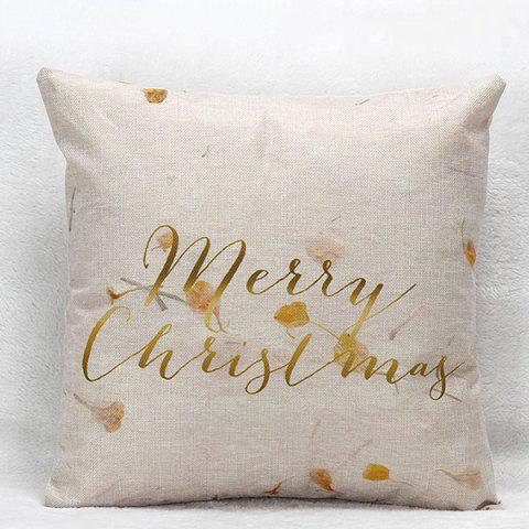 Outfit Merry Christmas Flower Letters  Pillow Case GOLDEN