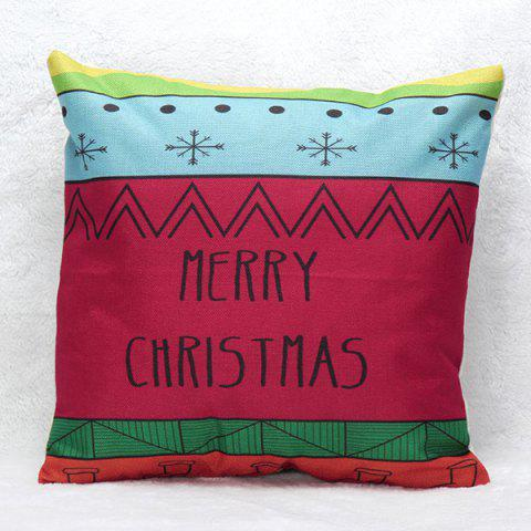 New Merry Christmas Letters Printed Pillow Case BLUE/PINK