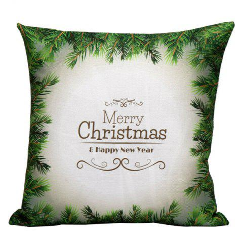 Unique Green Merry Christmas Pillow Case GREEN
