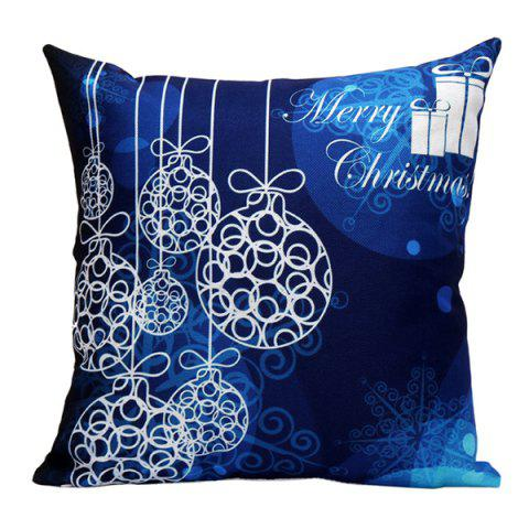 Fashion Merry Christmas Printed Pillow Case DEEP BLUE