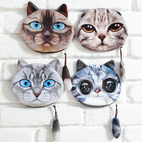 Trendy Cat Coin Purse - LIGHT BROWN  Mobile