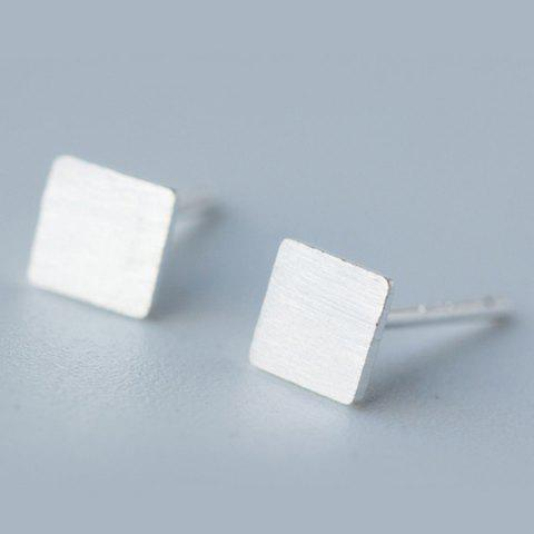 New Square Stud Earrings SILVER
