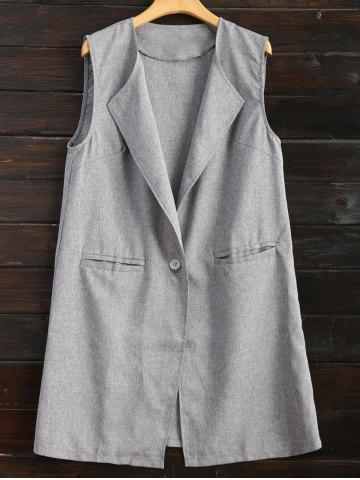 Shop One Button Long Waistcoat