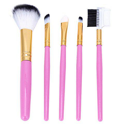 New 5 Pcs Nylon Facial Makeup Brushes Set