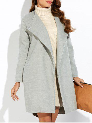 Outfits Side Slit High Low Woolen Coat