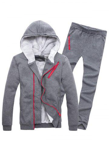 Zipper Agrémentée Color Block Hoodie Twinset