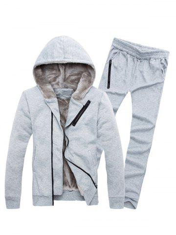 New Zipper Embellished Color Block Hoodie Twinset