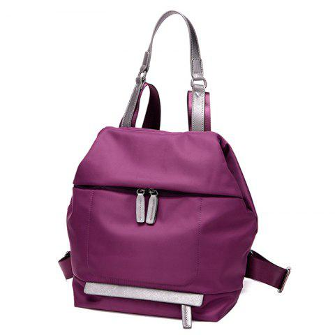 Shops Casual PU Spliced Nylon Backpack