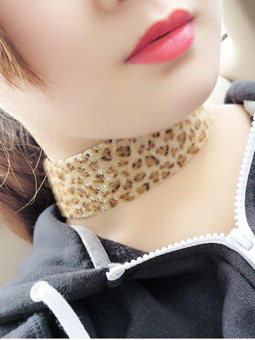 Outfits Artificial Leather Velvet Leopard Print Choker