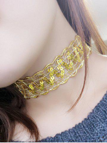 New Sequins Choker Necklace
