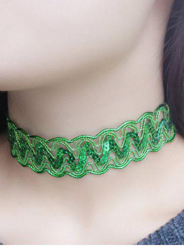 Online Sequins Choker Necklace
