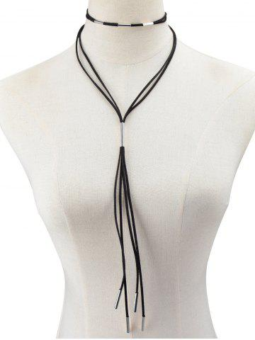 Collier de corde en cuir artificiel