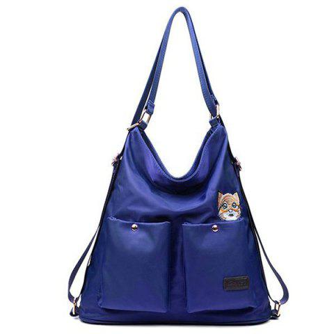 Latest Nylon Cat Embroidered Shoulder Bag