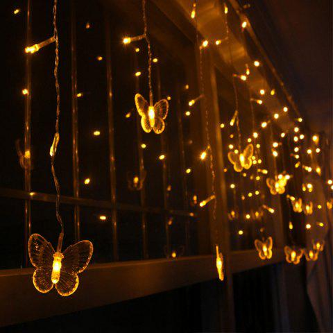 Shops Christmas Room Decoration Butterfly Pendant LED String Light - YELLOW  Mobile