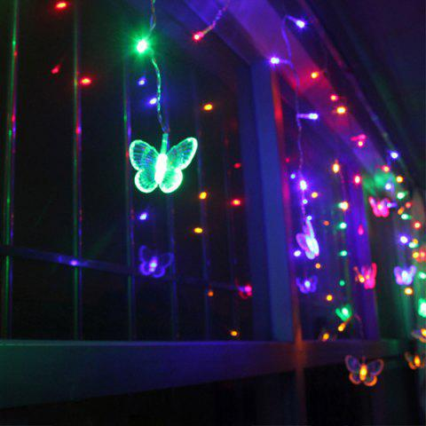 Outfits Christmas Room Decoration Butterfly Pendant LED String Light - COLORFUL  Mobile