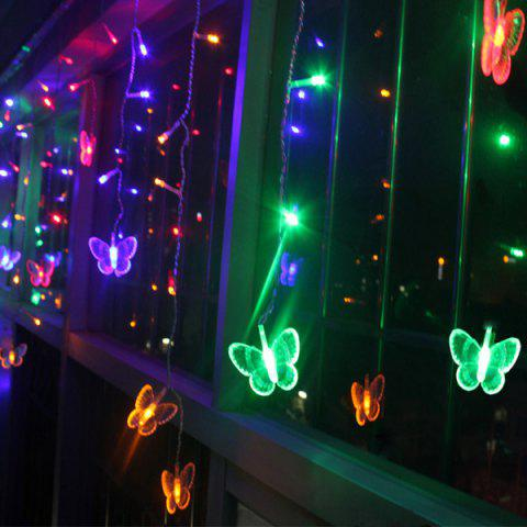 Shops Christmas Room Decoration Butterfly Pendant LED String Light - COLORFUL  Mobile