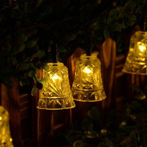 Solar Power Bell LED String Light Christmas Decoration Supplies - Warm White Light
